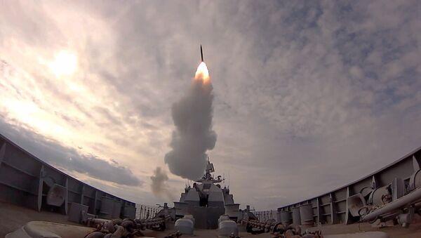 Experiencia útil: buques rusos practican la defensa antimisiles en el mar Báltico - Sputnik Mundo