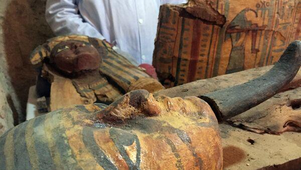 Descubren ocho momias intactas en una tumba faraónica - Sputnik Mundo