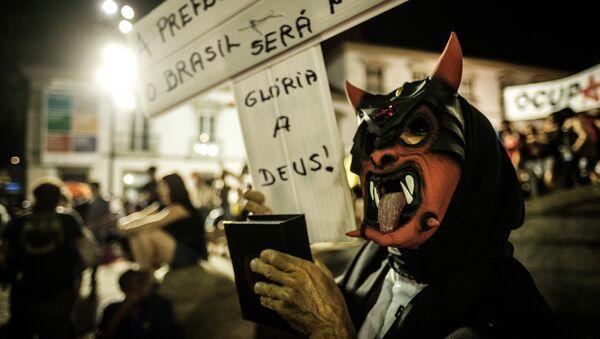 Protestas contra Michel Temer (archivo) - Sputnik Mundo