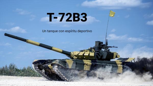 El tanque T-72B3 - Sputnik Mundo