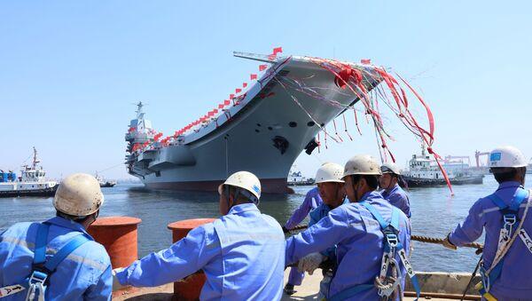 La botadura del segundo portaviones chino, Shandong - Sputnik Mundo