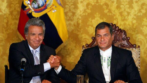Lenín Moreno, ganador de presidenciales, y Rafael Correa, presidente de Ecuador - Sputnik Mundo