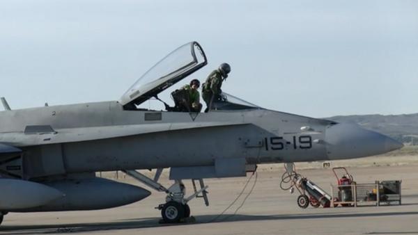 Cazas F-18 de la Fuerza Aérea española - Sputnik Mundo