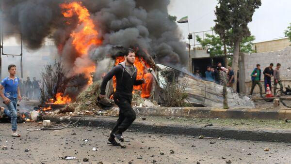 La explosión de un coche bomba en Siria (Archivo) - Sputnik Mundo