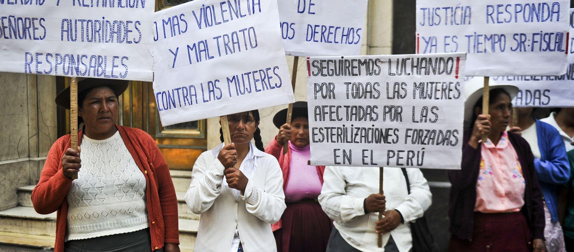 Protesta de mujeres indígenas - Sputnik Mundo, 1920, 26.08.2020