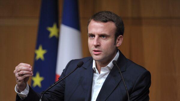 Emmanuel Macron, el líder del partido ¡En Marcha! y candidato presidencial en Francia (archivo) - Sputnik Mundo