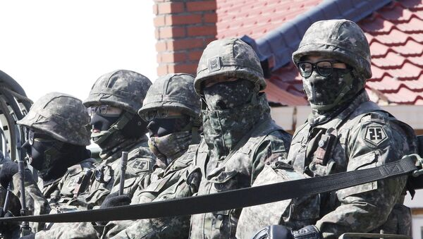 Militares surcoreanos - Sputnik Mundo