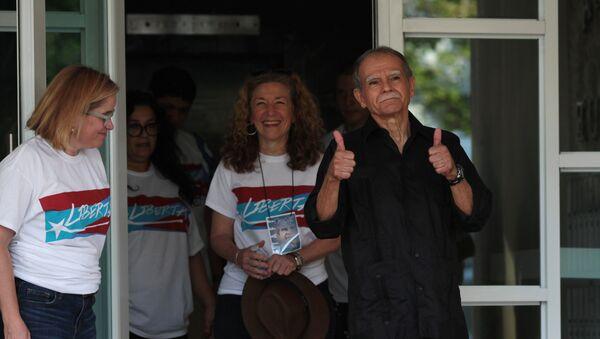 El independentista puertorriqueño López Rivera tras su liberalización - Sputnik Mundo