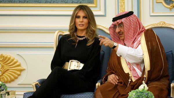 Melania Trump durante su visita a Arabia Saudí - Sputnik Mundo