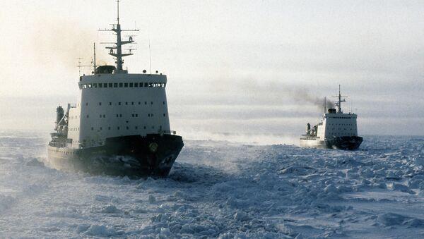 Buques soviéticos en el mar de Chukotka - Sputnik Mundo