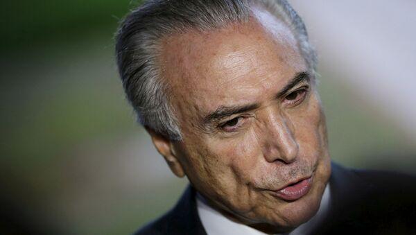 Brazil's Vice President Michel Temer - Sputnik Mundo