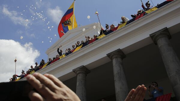 La ceremonia de Cambio de Mando presidencial de Rafael Correa en Ecuador - Sputnik Mundo