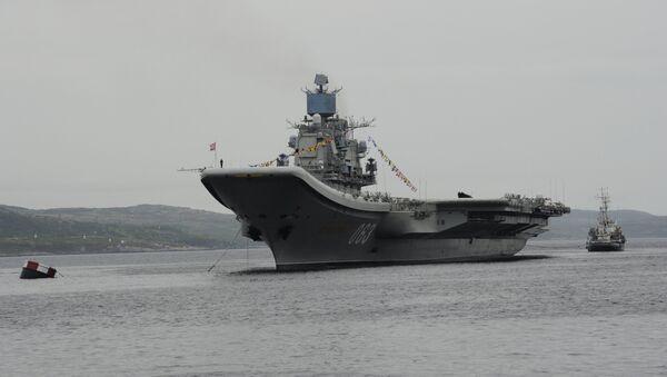 El portaviones ruso Almirante Kuznetsov (archivo) - Sputnik Mundo