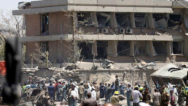 Lugar del atentado en Kabul - Sputnik Mundo