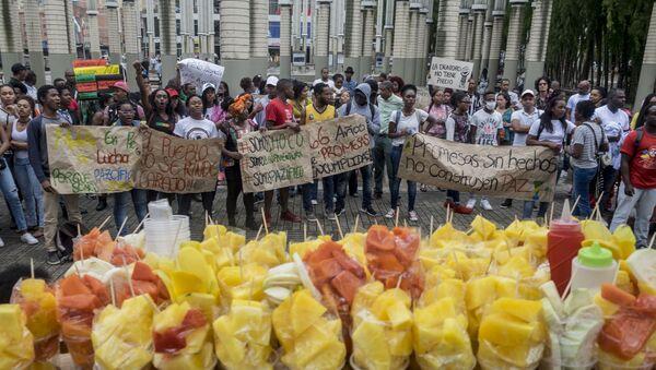 Protesta en Buenaventura, Colombia - Sputnik Mundo