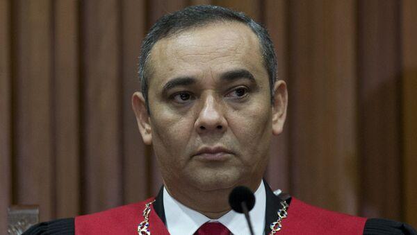 Maikel Moreno, presidente del Tribunal Supremo de Justicia venezolano (archivo) - Sputnik Mundo