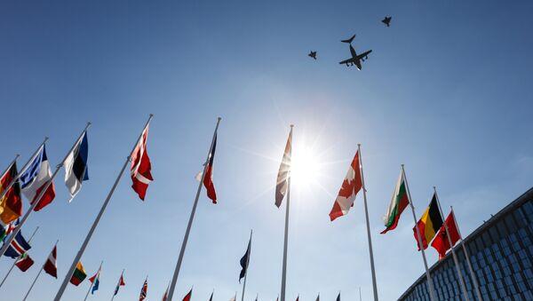 Las banderas de los países miembros de la OTAN - Sputnik Mundo