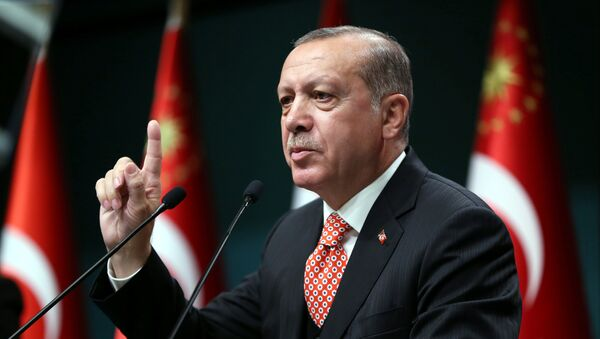 Recep Tayyip Erdogan, presidente de Turquía - Sputnik Mundo