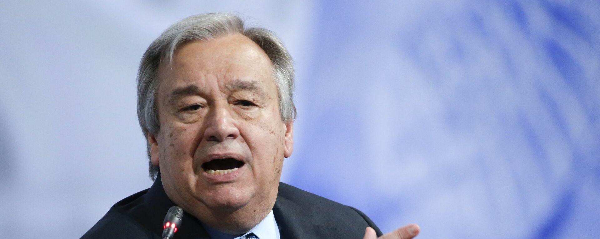 António Guterres, secretario general de la ONU - Sputnik Mundo, 1920, 04.08.2020