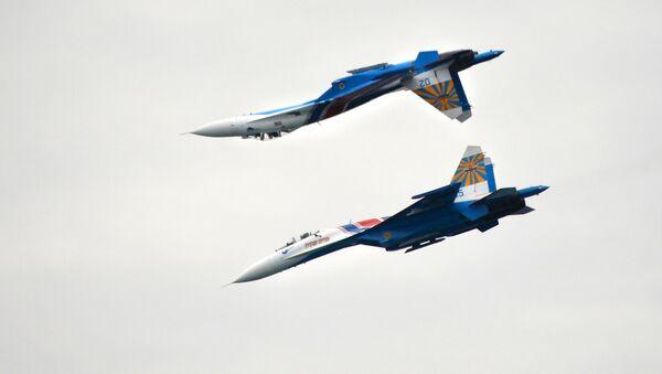 Los cazas rusos Su-27 - Sputnik Mundo