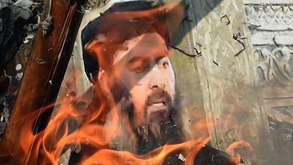 Foto de Abu Bakr Bagdadi en llamas - Sputnik Mundo