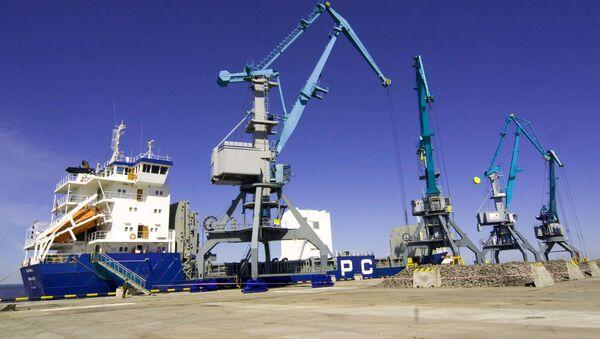 Открытие универсального перегрузочного комплекса в торговом порту Усть-Луга - Sputnik Mundo