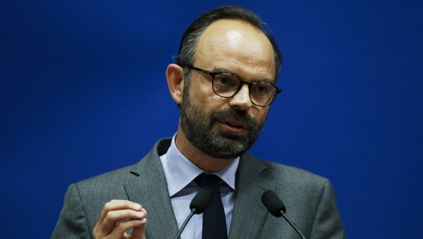 Edouard Philippe speaking as he presents the candidates for the La Republique en marche party ahead of the June parliamentary elections (legislative) in Le Havre, northwestern France. - Sputnik Mundo