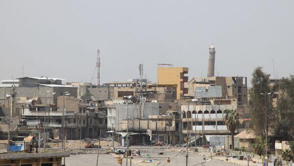 La torre de la Gran Mezquita Al Nuri, Mosul Irak - Sputnik Mundo
