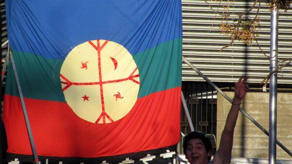 La bandera de mapuche - Sputnik Mundo