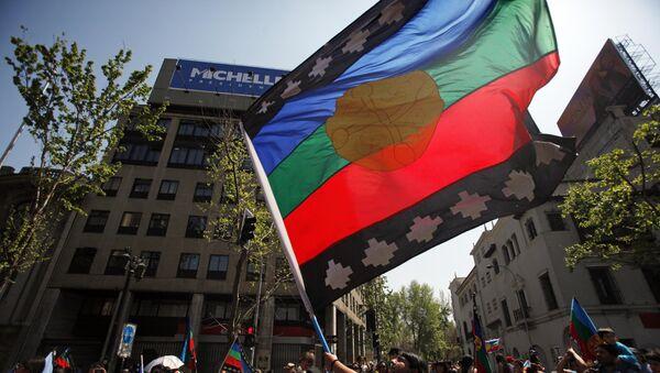 Bandera de mapuches - Sputnik Mundo
