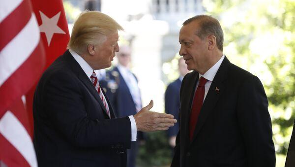 Donald Trump, presidente de EEUU, y Recep Tayyip Erdogan, presidente de Turquía - Sputnik Mundo