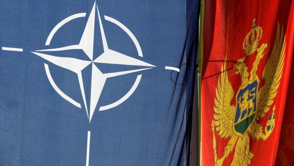 Banderas de Montenegro y de la OTAN - Sputnik Mundo