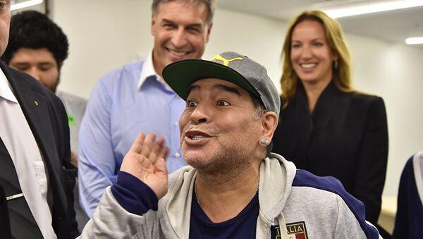 Diego Armando Maradona en Moscú, 30 de junio de 2017 - Sputnik Mundo