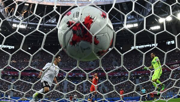 Un gol anotado durante la Copa Confederaciones Rusia 2018 - Sputnik Mundo
