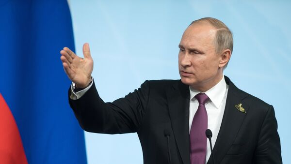 El presidente ruso Vladímir Putin en la cumbre G20, Hamburgo - Sputnik Mundo
