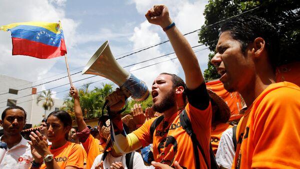 Protestas en Caracas, Venezuela (archivo) - Sputnik Mundo