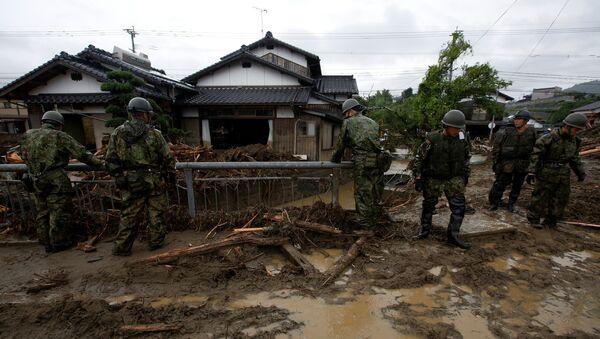Consecuencias de fuertes lluvias en Japón - Sputnik Mundo