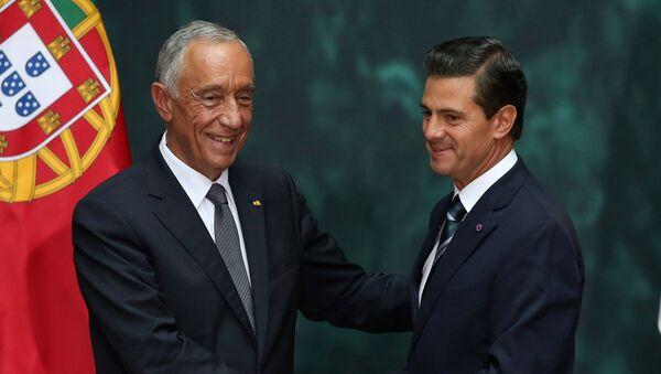 Enrique Peña Nieto, presidente de México, y su homólogo portugués, Marcelo Rebelo - Sputnik Mundo