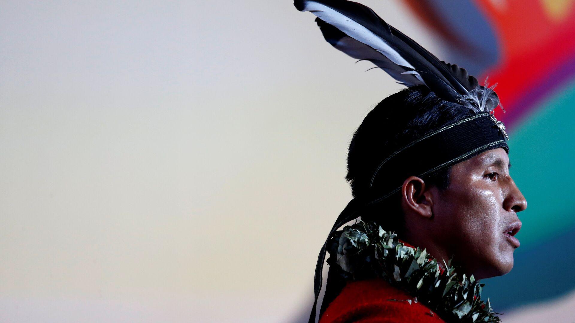 Un hombre indígena de Ecuador (imagen referencial) - Sputnik Mundo, 1920, 21.09.2021