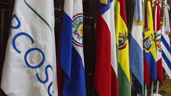 Banderas de los países miembros del Mercosur - Sputnik Mundo