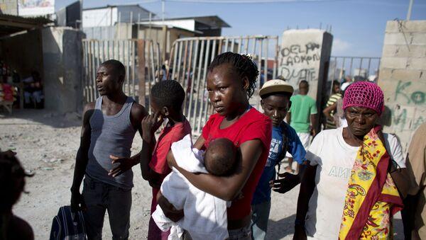 Migrantes haitianos deportados de la República Dominicana (archivo) - Sputnik Mundo