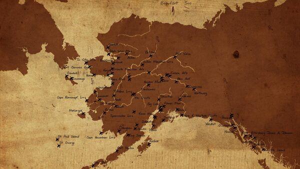 El mapa de Alaska, Rusia está a la izquierda (imagen referencial) - Sputnik Mundo