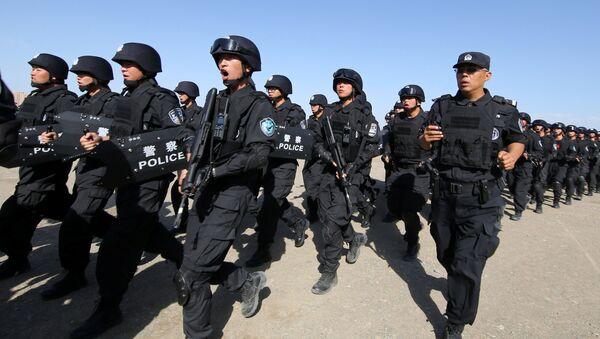 Soldados chinos participan en un ejercicio antiterrorista (archivo) - Sputnik Mundo