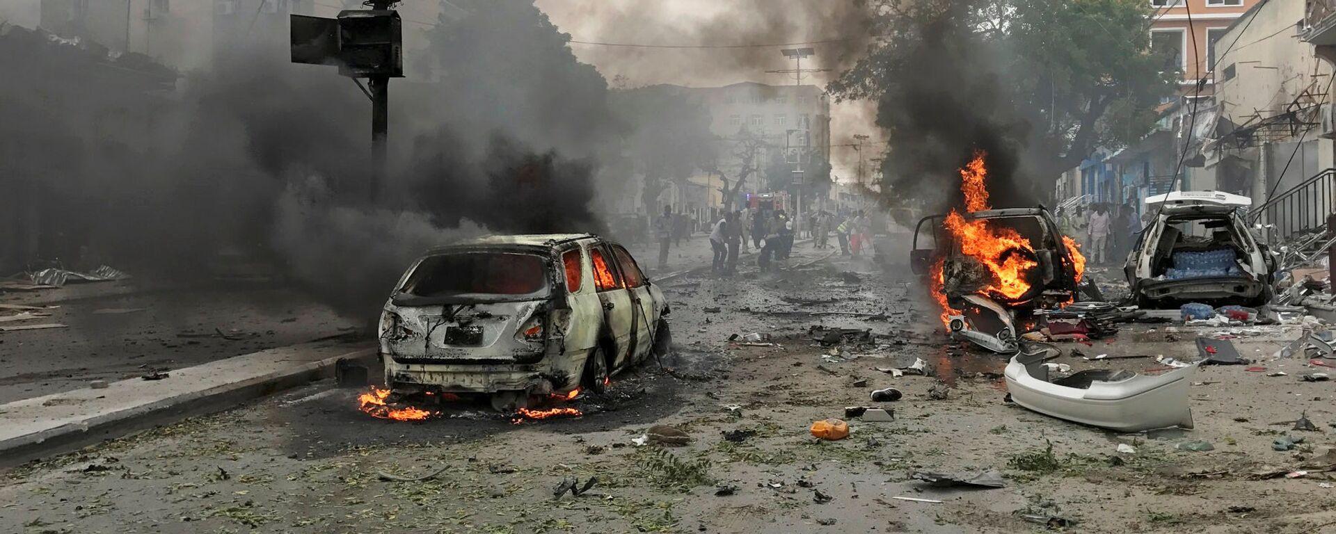 La explosión de un coche bomba en Mogadiscio (archivo) - Sputnik Mundo, 1920, 25.09.2021