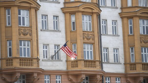 La embajada de EEUU en Moscú (archivo) - Sputnik Mundo