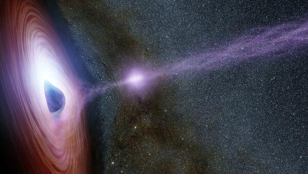 Agujero negro (imagen referencial) - Sputnik Mundo