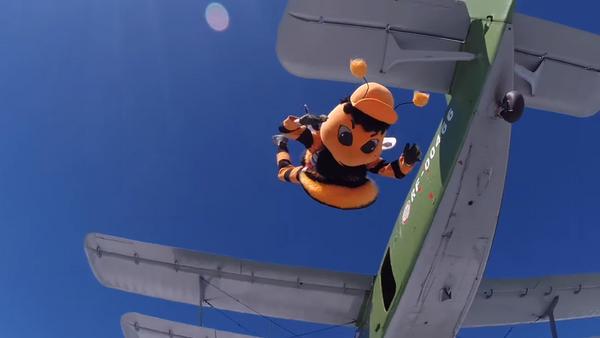 La mascota del club Ural Ekaterimburgo celebra el Día de las Fuerzas Aerotransportadas de Rusia - Sputnik Mundo
