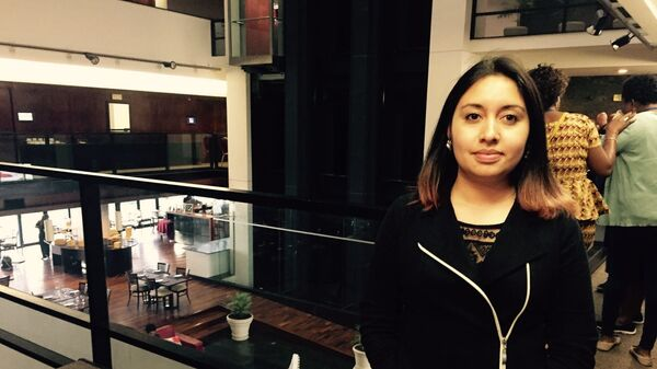 La abogada colombiana Cristina Roserok durante el seminario internacional sobre objeción de conciencia y aborto en Montevideo, agosto de 2017 - Sputnik Mundo