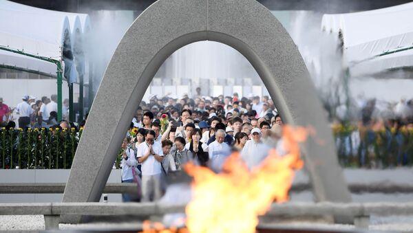 La ceremonia en Parque de la Paz, Hiroshima - Sputnik Mundo