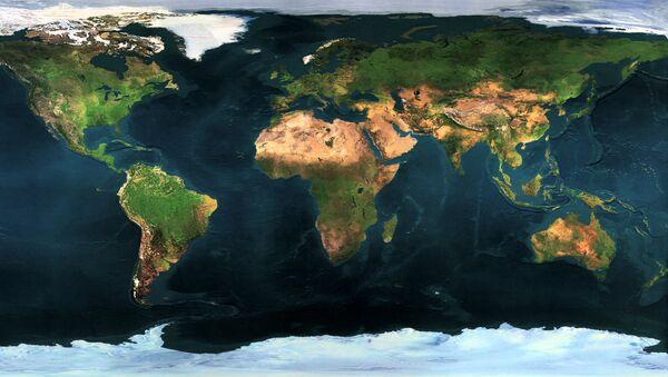 Un mapa de la Tierra (imagen referencial) - Sputnik Mundo